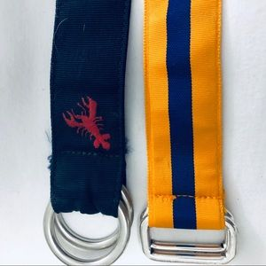 Lot of 2 Polo Ralph Lauren d ring belts large